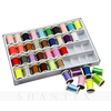280M 40 Color Sewing Glitter Thread Embroidery Machine Thread Sparkling Glitter Rayon Embroidery Sewing Thread
