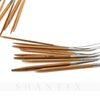 Wholesale 80cm Eco-Friendly Carbonized Bamboo Handle Metal Wire Circular Knitting Needles