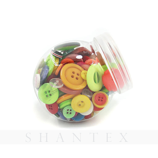 Wholesale Four-Eye Round Button Resin Button Bottle Button for Children's DIY