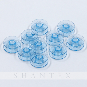 Household Small Empty Blue Wire Sewing Machine Spools Plastic Thread Bobbin Sewing Machine Accessories
