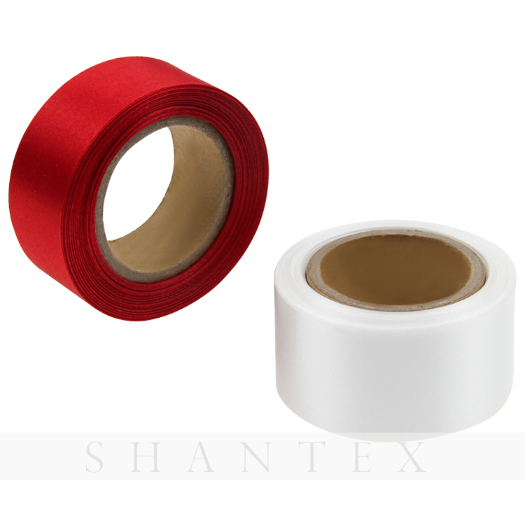Decorative 100% Polyester Solid Color 10-1620mm Single/double Faced Satin Christmas Ribbon Tape