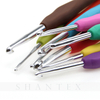 Ergonomic Soft Handle Grip Crochet Hook Set with PVC Case for Knitting And Weaving