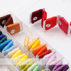 Embroidery Floss 50pcs DMC Colors Embroidery Thread String Kits with Storage Box Cross Stitch Kits