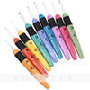 Led crochet hook Lighted Crochet Hooks Value Pack 9/pkg Set Replacement Batteries For DIY Weave Yarn