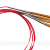 Red Tube Carbonized Bamboo Circular Knitting Needles Set For Hand Knitting Yarn