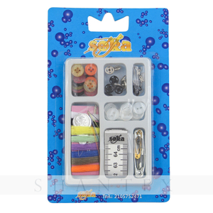 Mini Disposable Travel Hotel Sewing Kit with Needle Thread Sewing Accessories